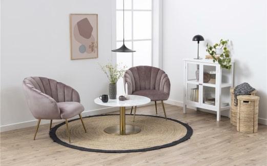 Fotel glamour do salonu