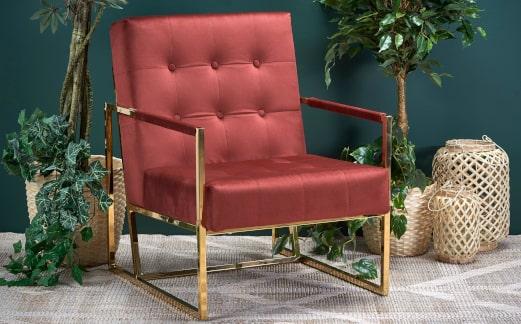 Fotel pikowany glamour - inspiracja