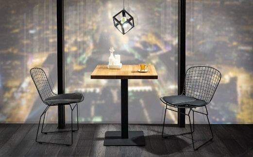 Stół na jednej nodze inspiracja