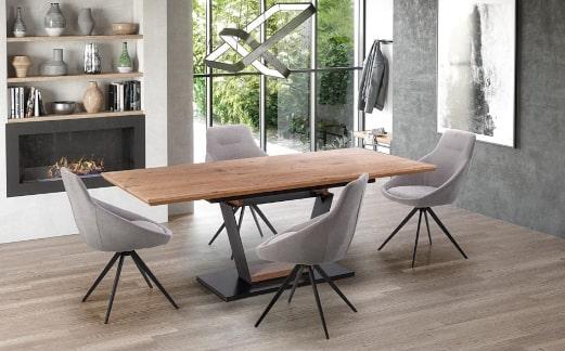 Stół rozkładany na jednej nodze