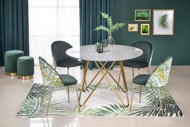 Krzesła ze złotymi nogami w aranżacji