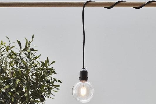 Czarna lampa ogrodowa wisząca żarówka Garden Markslojd