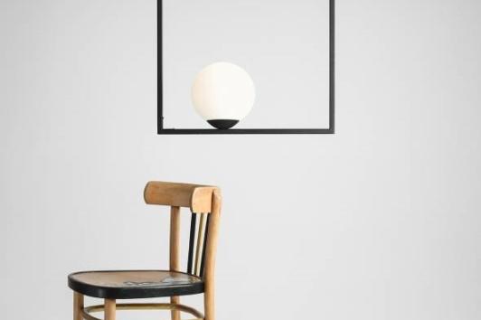 Designerska lampa sufitowa szklana Frame Aldex