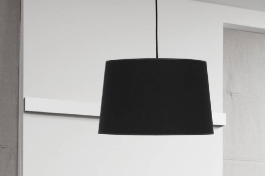 Czarna klasyczna lampa wisząca z abażurem Maja 45 Tk Lighting