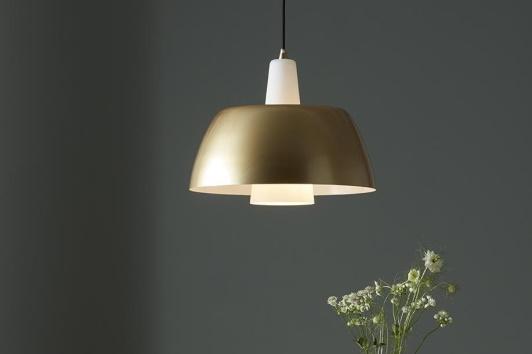 Designerska lampa mosiężna wisząca Solo Markslojd