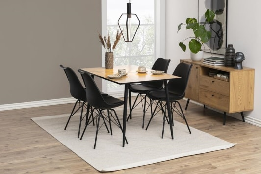 Designerskie czarne krzesło z tworzywa Eris Actona