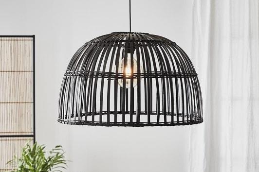 Duża czarna lampa druciana wisząca Cottage Markslojd
