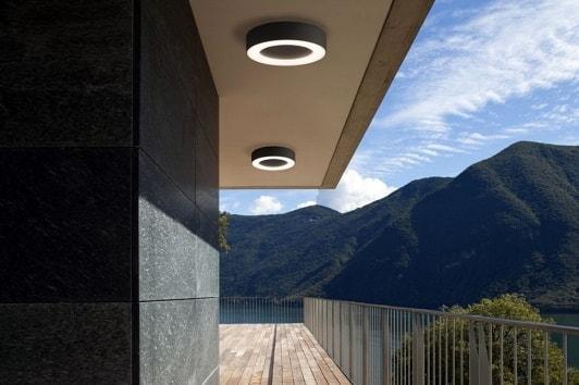 Nowoczesny czarny plafon zewnętrzny ogrodowy Merida LED Nowodvorski