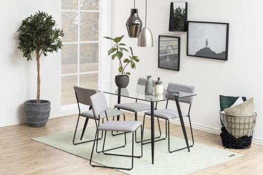 Designerski stół szklany prostokątny Wilma 140x80 Actona
