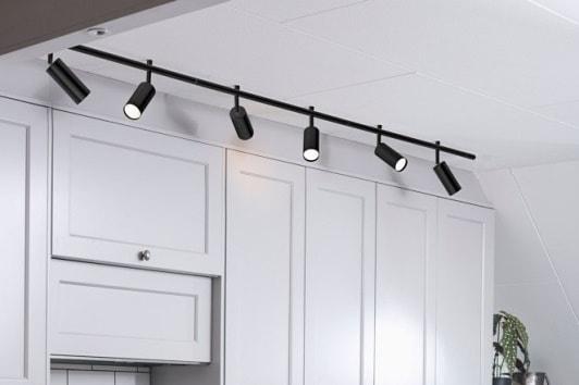 Czarny reflektor sufitowy podówjny Expand Markslojd