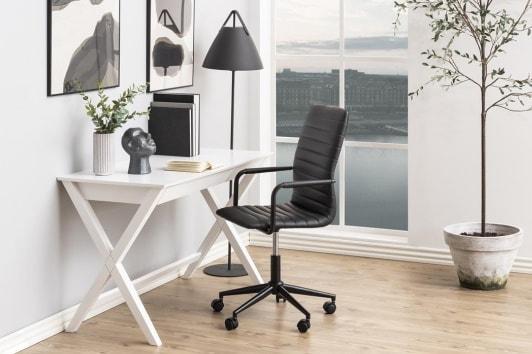 Białe biurko skandynawskie z szufladą Writex Actona
