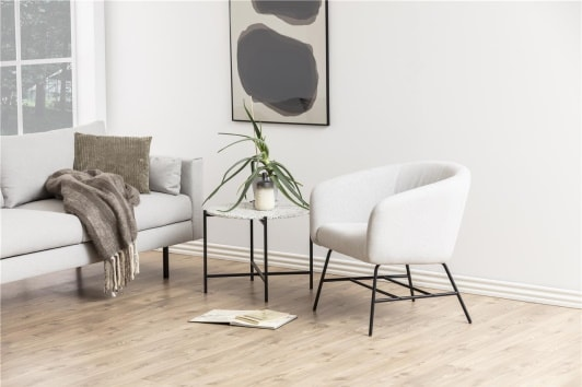 Designerski szary fotel wypoczynkowy Ramsey Actona