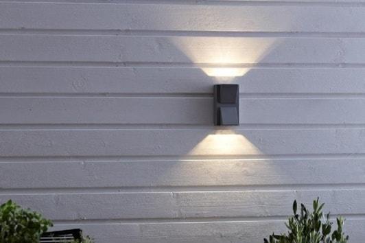 Szary kinkiet ogrodowy góra/dół Carina LED Markslojd
